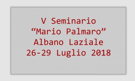 """Programma del V Seminario """"Mario Palmaro"""""""